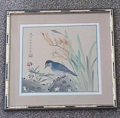 A lovely chinese painting on silk. signed .