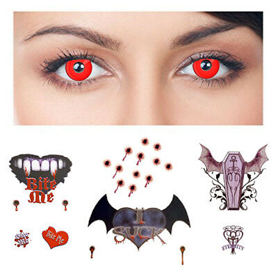 Vampire Kit: Includes: Red Crazy eyes | Realist | Skin Safe | MADE IN THE USA