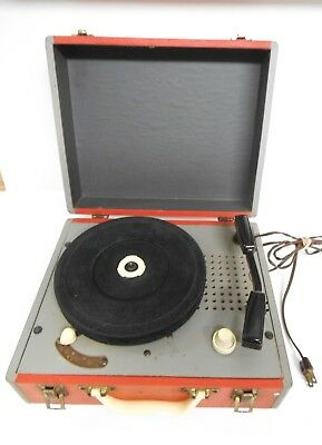 Vintage 1950's Airline Record Player, 1 Tube, Portable 4 Speed, Model # GAA-862A