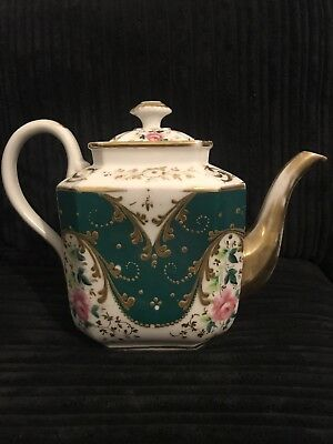 Antique Imperial Russian Porcelain Teapot By Popov Gorbunovo C1870