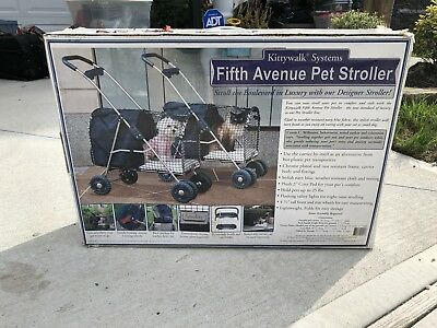 Kittywalk Systems Fifth Avenue Pet Stroller Deluxe Blue In Box