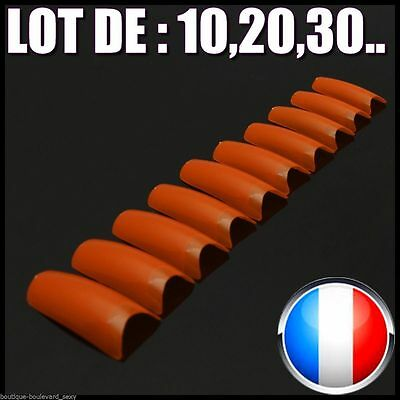 ❤ Manucure ❤ Lot Capsules Faux Ongles Orange Américain Nail Art Flashy Sexy❤Fluo