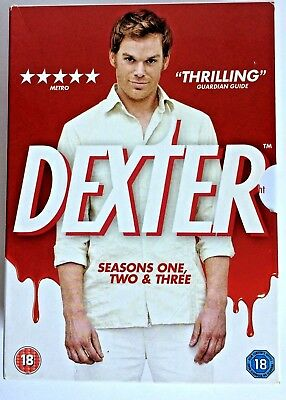 Dexter - Season 1 2 & 3 Collection The Complete Series DVD Box Set One Two Three