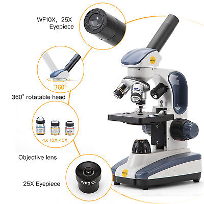 National Optical 40X-1000X Student Compound Biological Microscope with LED Light