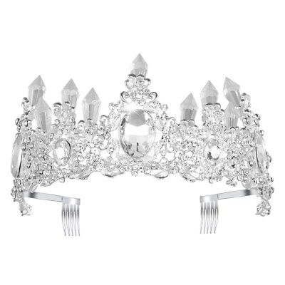 Crystal Tiara Princess Headband Crown Headpiece Wedding Bridal Bridesmaid Party