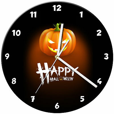 Halloween Glass Wall Clock Learn Gift Bedroom Gaming Kids - 11