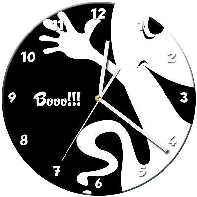 Halloween Glass Wall Clock Learn Gift Bedroom Gaming Kids - 03