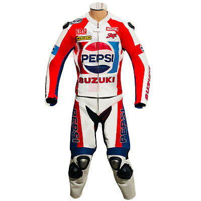 Motorcycle Motorbike Street Riding Suit Pepsi Suzuki Motogp Race Leathers Suit