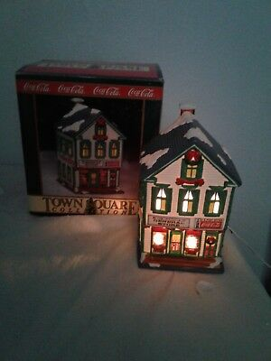 """Coca-Cola Town Square Collection """"McMahan's General Store"""" Light-Up Building"""