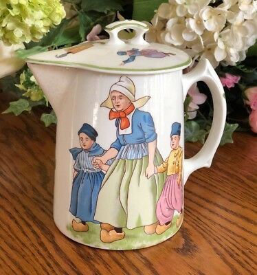 Knowles Dutch Chocolate Pot w Lid Children Scenes