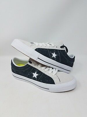 Converse One Star Pro Ox Black 155526C Athletic Sneakers Mens Size 7.5 Nwob
