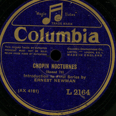 ERNEST NEWMAN Introduction to Chopin Nuocturnes / LEOPOLD GODOWSKY -PIANO- G3292