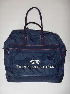 Princess Cruises Large Duffel Expandable Bag Luggage Navy Blue Carry On Travel