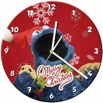 Christmas Xmas Glass Wall Clock Learn Gift Bedroom Gaming Kids - 04