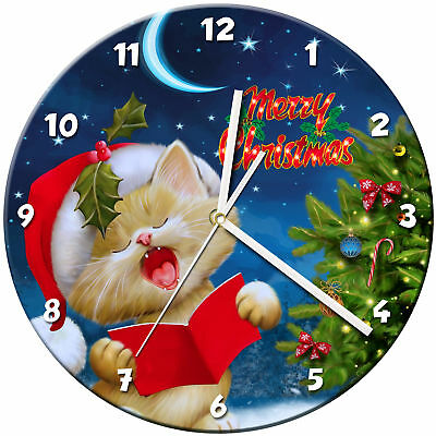 Christmas Xmas Glass Wall Clock Learn Gift Bedroom Gaming Kids - 10