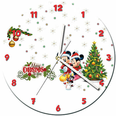 Christmas Xmas Glass Wall Clock Learn Gift Bedroom Gaming Kids - 05
