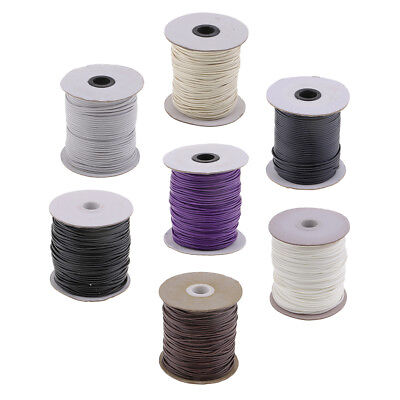 Prettyia 80 Meters 2mm Waxed Cotton Macrame Cord Thread Rope String DIY Findings