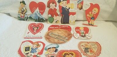Vintage Valentine Card Lot Of 10 A-Meri- Card Made In USA