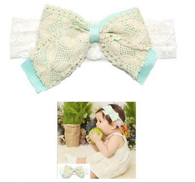 2016Hot Baby Girl Infant Lace Headband Hair Double Bow Band Accessories