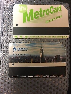 NYC Metrocard Preowed MTA Transit Cards  Empty