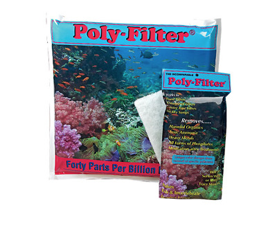 "Poly-Bio Marine Poly-Filter  Removes Ammonia Nitrates in Aquariums - 4"" x 8"""