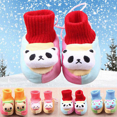 Cute Coral Velvet Infant Thick Non-Slip Soft Warm Winter Baby Toddler Shoes