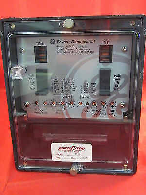 Ge  Difca5  Rev. B Overcurrent Protection Relay