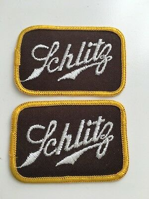 """2 Joseph Schlitz Brewing Company New Iron-On Beer Patch 3"""" x 2"""" New Patch LOT"""