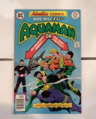 Adventure Comics 448 VF Aquaman Dc comics 1976 30 cent