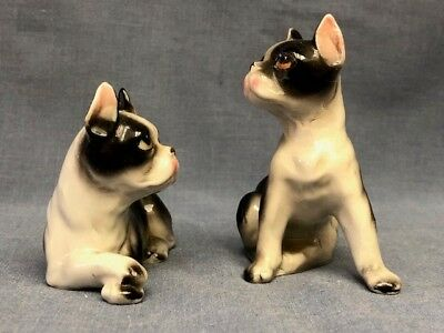 Vintage Pair of Salt and Pepper Shakers- Boston Terrier (Relco)