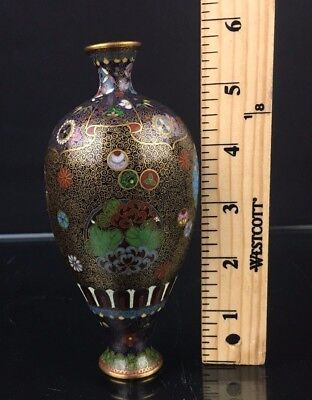 Wonderful Antique Japanese Meiji Period Cloisonne Vases NO RESERVE $9.99