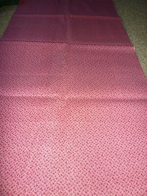 Antique Double Pink Fabric **unused** 23.5 Wide