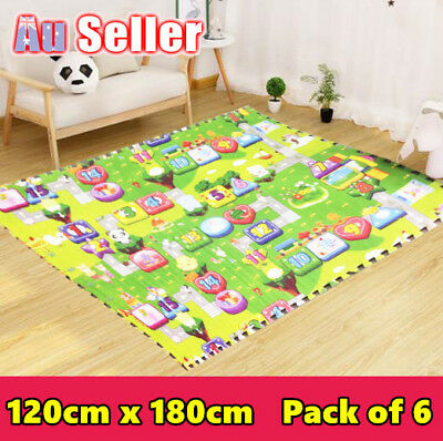 Alphabet Foam Floor Rug Crawl Mat Play Game Blanket Puzzle