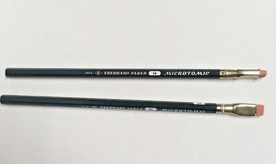Two (2) Vintage Eberhard Faber 603 H Drawing Pencils Microtomic Unsharpened NOS