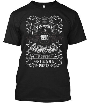 Vintage 1995 Age To Perfection Hanes Tagless Tee T-Shirt