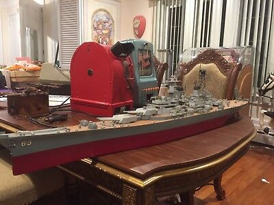 Ww2 Battleship Hand Made Old Has A Motor Andremote As Well