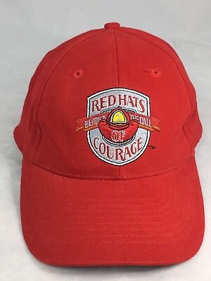 0183895f792 Red Hats Beyond the Call of Courage Fire Fighters Baseball Hat Adjustable  Cap