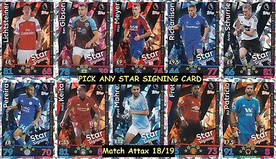 Pick any 15 base cards for £1 Match Attax 17//18.5 Shiny Cards per 15 allowed