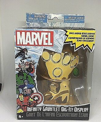 Marvel Infinity Gauntlet Dig-It Display with Soul Gems Rare Free Shipping