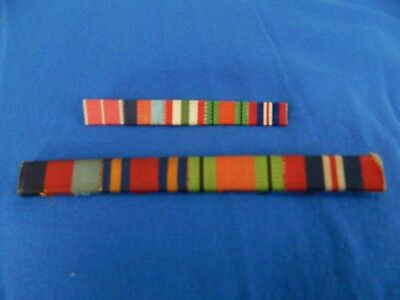 Original WW2 British Ribbon Bars NICE!