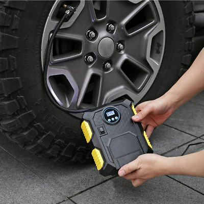 Digital Tyre Inflator DC12V Portable Air Compressor Car Bike Tire Pump w/ LED AU