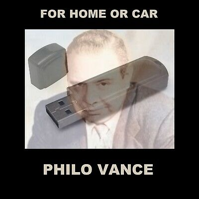 Philo Vance. Enjoy 97 Old Time Radio Detective Shows While Driving Or At Home!