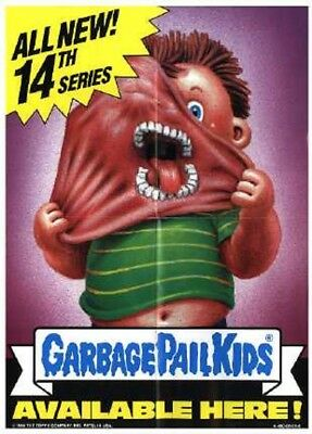 1986 Garbage Pail Kids Original Series 14 Box Topper Dealer Sell Sheet