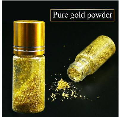 24K Real gold powder, small flakes of genuine gold leaf, edible,facial,food deco
