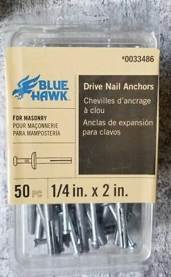 Screws Included Blue Hawk 100-Pack 1.5-in x 0.305-in All-Purpose Anchors