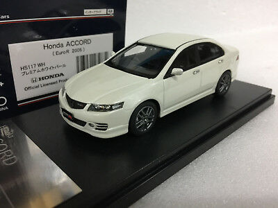 1:43 HI STORY HS117WH HONDA ACCORD CL7 EURO R WHITE model car