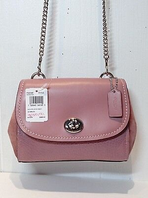NWT COACH Mixed Material FAYE CROSSBODY in Dusty Rose F22349 MSRP $395