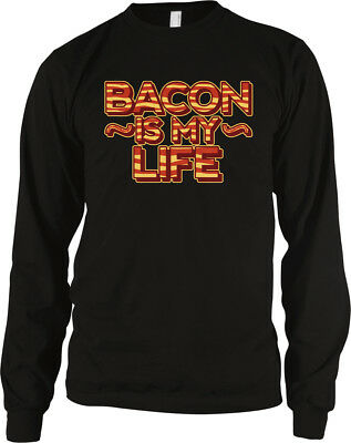 Bacon Is My Life Strips Love Eat Live For Delicious Favorite Food Men's Thermal