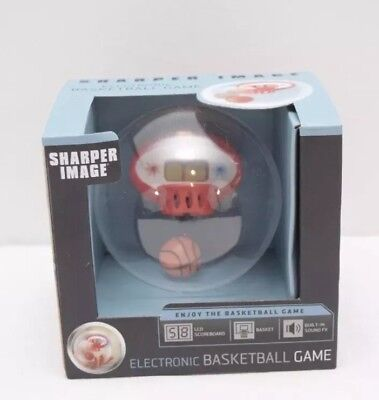 Sharper Image Electronic Basketball Game LCD Scoreboard Handheld Sound FX NEW!!