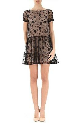 Red Valentino Lace Dress With Self Tie Back 33500 Picclick
